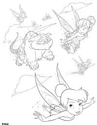 Try Our Free Tinker Bell And The Legend Of NeverBeast Coloring Pages Your Child Can Color Gruff Disney Fairies From