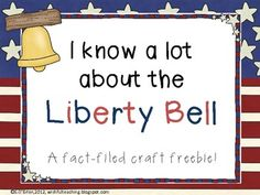 Here's a craftivity with facts and ideas for teaching about the Liberty Bell.