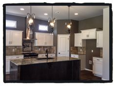 Archer Floor Plan kitchen option starting at only $210,350 with Homesite in a Providence Hills!