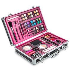 Vokai Makeup Kit Set 32 Eye Shadows 6 Lip Glosses 2 Lip Gloss Wands 2 Lipsticks 1 Face Powder Duo 1 Blush Powder Duo 1 Mascara Case with Carrying Handle * For more information, visit image link. (This is an affiliate link) Makeup Kit For Kids, Kids Makeup, Lipgloss, Lipstick, Large Makeup Case, Uñas Fashion, Fashion Beauty, Best Lip Gloss, Makeup Bag Organization