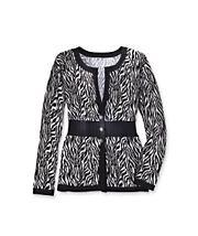 Zebra Striped Cardigan