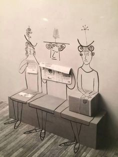 Saul Steinberg - Sala d'attesa
