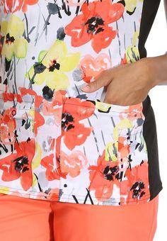 Cherokee Flexible Awash In Color print top | Scrubs and Beyond