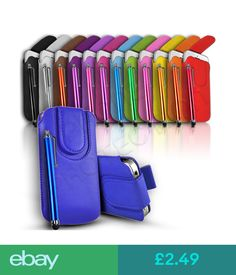 Cases & Covers Quality Magnet Close Pu Leather Pull Tab Case Cover & Pen Fits Various Mobiles #ebay #Electronics