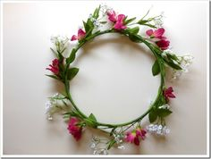 Learn how to make a flower halo and a flower chandelier