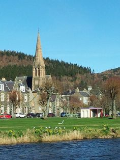 Peebles Scotland. Lovely little town with lots of interesting shops and a lovely river to walk alongside