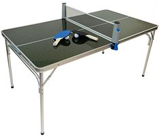 MASTER PONG MINIATURE SIZED Ping Pong Table Set with TWO BALLS and TWO PADDLES
