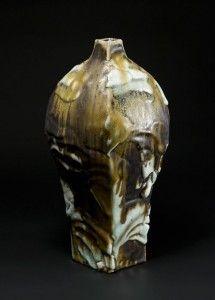 Yohen Vase with Shino and natural ash glaze by Ken Matsuzaki.