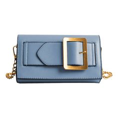 Buckle Strap Faux Leather Chain Crossbody Bag Blue ($20) ❤ liked on Polyvore featuring bags, handbags, shoulder bags, zaful, clutches, purses, handbag purse, shoulder handbags, crossbody shoulder bag and blue crossbody purse