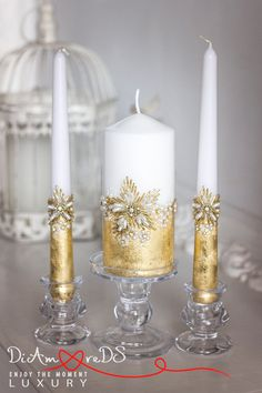 Wedding candles from the collection Gold от DiAmoreDSLUXURY