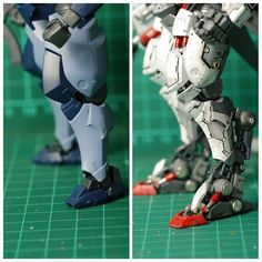 """456 Likes, 20 Comments - Asrul Hazimin (@hazimim) on Instagram: """"Project HG 1/144 Hyakuren - nearing completion. Before and after. #mobilesuit #gundam #hgibo…"""""""