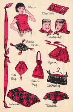 ideas about Bandana Crafts Bandana Quilt, Red Bandana, Vintage Bandana, Fabric Crafts, Sewing Crafts, Sewing Projects, Bandana Crafts, Crafts With Bandanas, Bandana Styles