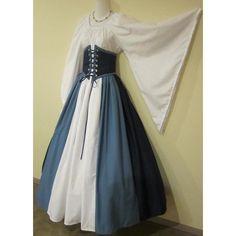 Dagget Sleeve Triple-Color Cincher Set - renaissance clothing, medieval, costume