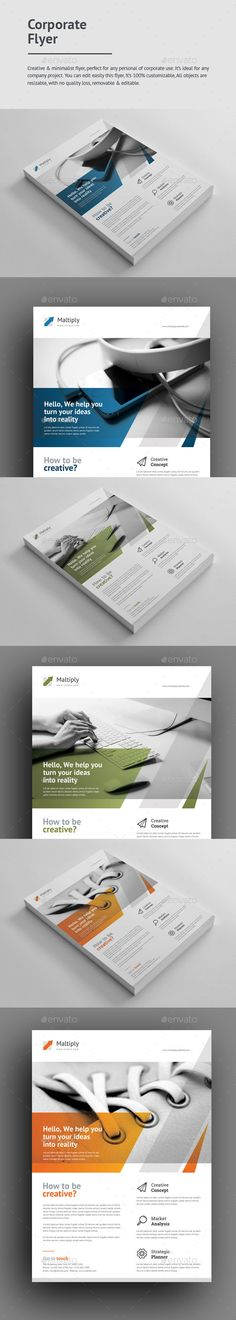 Corporate Flyer  — PSD Template #product #ad • Download ➝ https://graphicriver.net/item/corporate-flyer/18644665?ref=pxcr