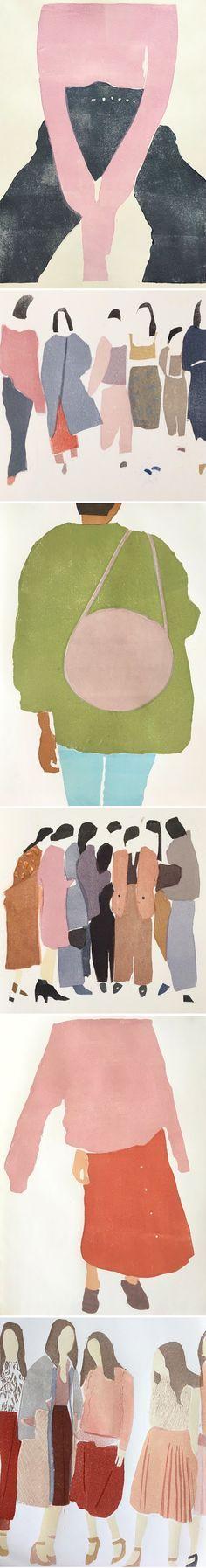 monotypes by renée gouin