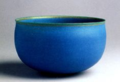 PALEV EBUZZIYA SIESBYE,Turkey, 1984 - really like this piece with the thin contrasting lip against the brilliant blue of the bowl....