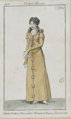 1800s Fashion, 19th Century Fashion, Ethnic Fashion, Vintage Fashion, Fashion Goth, Steampunk Fashion, Regency Dress, Regency Era, Historical Costume