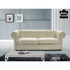 House of Hampton Maidenhead Leather Sofa & Reviews | Wayfair