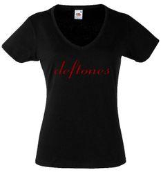 Deftones Logo Shirt Alternative Metal Shirt Deftones T Shirt Tank Top Experimental Rock Black New Women Lady V Neck T Shirt on Etsy, $13.99