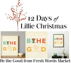 On the second day of Christmas Lillie Magazine shared with me, a modern print from Fresh Words Market! Start your day with a positive note on an antiqued-inspired finish. While you dress your home or office with this print, when you purchase this product, Fresh Words Market donates 10% of the proceeds to women & children-focused organizations. Not only does your home look good, but you're doing good! You can purchase this product at Fresh Words Market on www.freshwordsmarket.com.