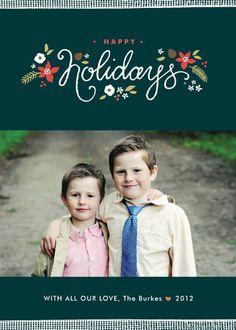 Ribbon Noel Holiday Photo Cards
