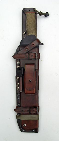 Bushcraft Sheath - Cool Nature fire starter and all