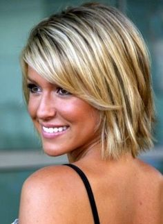 Chic Short Hairstyles for Thin Hair #chic
