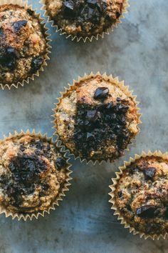 my darling lemon thyme: flourless banana, cinnamon + dark chocolate muffin recipe {gluten + dairy-free} + 4 years of blogging!