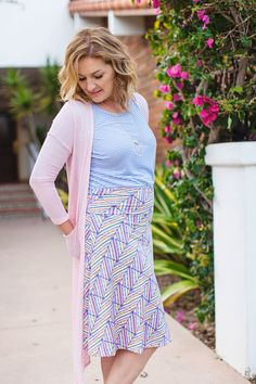 LuLaRoe-Azure skirt! Amazing Patterns and cute fit! Join my shopping group page to see what the buzz is all about!! https://www.facebook.com/groups/LuLaRoewithDEE/
