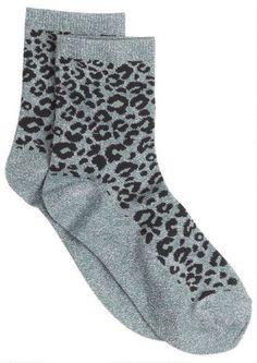 Loepard Lurex Socks
