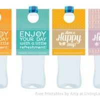 FREE Printable Water Bottle Labels from LivingLocurto.com...