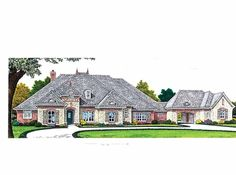 European House Plan with 3214 Square Feet and 3 Bedrooms(s) from Dream Home Source | House Plan Code DHSW68939