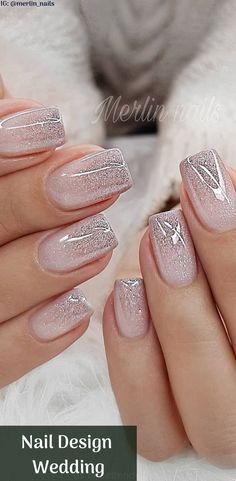 Nail Design Metalic For Wedding nails are an art expression to many brides nowad. - Nail designs - Hybrid Elektronike - Nail Design Metalic For Wedding nails are an art expression to many brides nowad… – Nail design - Marble Nail Designs, Nail Art Designs, Fingernail Designs, Nail Designs Pictures, Cute Nails, Pretty Nails, Fancy Nails, Crazy Nail Designs, Wedding Nails Design