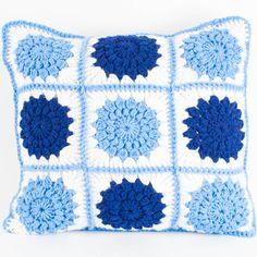 Crocheted Sunburst Pillow | SewSimmerAndShare.com