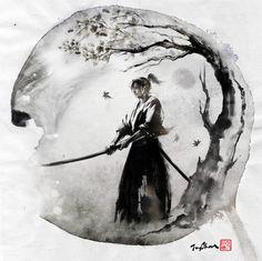 JUNGSHAN INK- illustration: Autumn moon