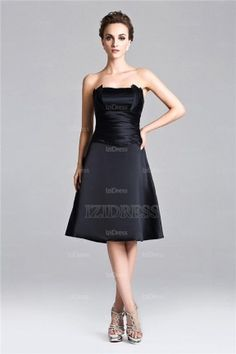 A-Line/Princess Strapless Knee-length Chiffon Cocktial Dress - IZIDRESSES.com at IZIDRESS.co.uk