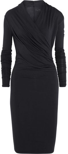 DAY Birger et Mikkelsen wrap-effect stretch-modal dress <3