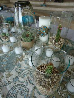 CBC163 Riviera Maya Weddings Boda / cactus centerpieces centro de mesa de cactus