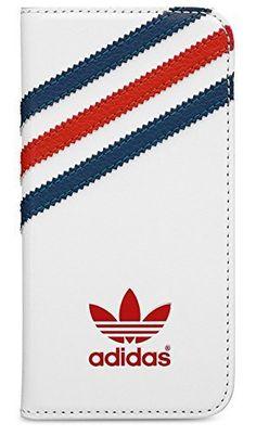 adidas originals カードポケット付き iPhone SE/5/5s ケース 白 x 青 x 赤 [並行輸入品]
