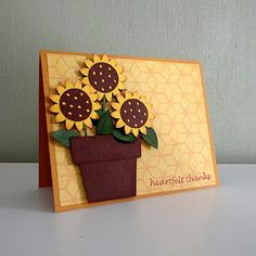 Another very cute sunflower card using Walk in my Garden cartridge.
