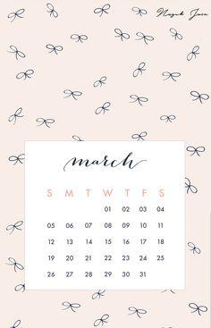 March - Free Calendar Printables 2017 by Nazuk Jain