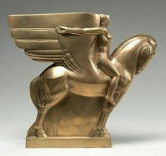 Bronze Winged Horse and Rider ( Study for a Monument) by John Bradley Storrs, date unknown