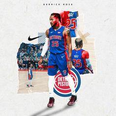 Detroit Basketball, Basketball Design, Basketball Pictures, Sports Basketball, Sports Art, Sports Graphic Design, Graphic Design Posters, Graphic Design Inspiration, Sport Design