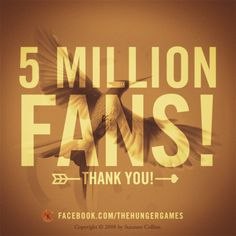 Thank you for loving #THEHUNGERGAMES as much as we do! www.facebook.com/thehungergames #thankyou #fans #fan #HungerGames #TheHungerGames #Katniss #KatnissEverdeen #book #books #series #trilogy #quote #quotes #readcatchingfire #repin #THG #girlonfire #catchfire #CatchingFire #read #reading #quotation #character #characters #victors #tributes #tribute #victor #districts #panem #Mockingjay #District12 #thearena #TheCapitol