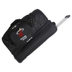 NBA Miami Heat Mojo 27 Rolling Drop Bottom Duffle Bag