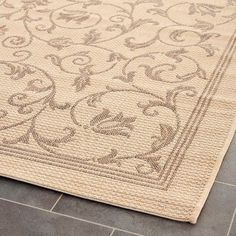 Vaucluse Rectangle 9'X12' Patio Rug - Natural/Brown - Safavieh