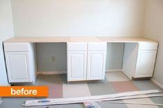 Before & After: A Diy Desk For Two Topped With A Surprise Surface — How To Nest…