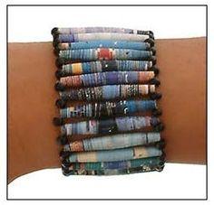 Recycled Magazine Bracelet