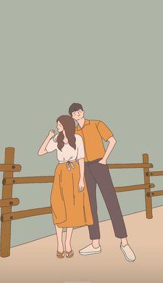 Cute Couple Comics, Cute Couple Cartoon, Chibi Couple, Cute Couple Art, Anime Love Couple, Cute Couple Wallpaper, Wallpaper Wa, Cute Couple Drawings, Cute Drawings