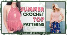 Make these freshest summer crochet top patterns to start and end the summer season with a bang! They're light, they're airy, and they're effortlessly glam! 45 patterns to choose from. Crochet Summer Tops, Easy Crochet, Knit Crochet, Crochet Things, Crochet Tops, Shell Tops, Fat To Fit, Top Pattern, Crochet Clothes